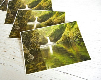 Oregon Postcards | Eagle Creek Columbia River Gorge | Pacific Northwest Waterfall | Save the Date Cards | Vintage Postcards