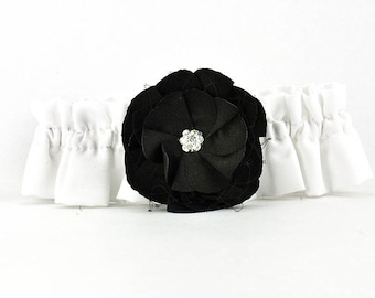 Black Rose Wedding Garter - 50104B