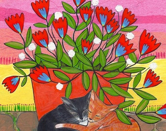 Greeting Card : Two Cats #204-C