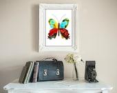 The Original Butterfly Print Wall Art Decor