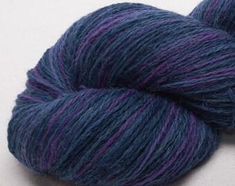 Hand painted ALPACA/LAMBSWOOL-  2ply Laceweight  yarn 620 yard skein