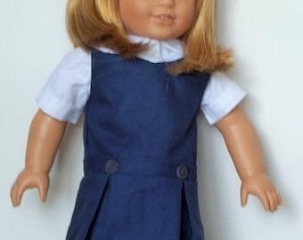 Navy school uniform fits American Girl