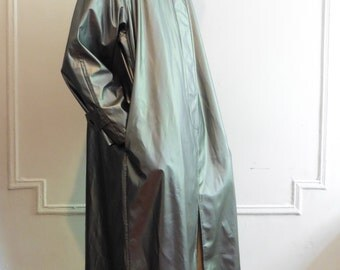 Gunmetal Silver Rain Coat