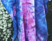 Sunny Daze  cotton Caftan Kaftan Dress Tie Dye, Plus, One Size