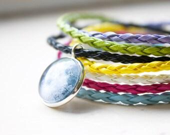 Moon Bracelet - Moon Phase Bracelet - 7 Colours - Luna Phases Full Moon Glass Dome Statement Bracelet