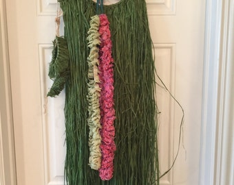 Costume- Hawaiian Costume with Grass Skirt and Bikini Top