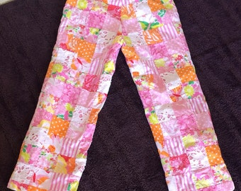 Lilly Pulitzer Patchwork Pants - Crop Pants - Pedal Pushers - Southern Style Fun Funky Patterns - Whimsical - Vacation - Size 2 - 28 Waist