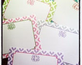 Ikat Pattern Personalized Notecard or Invitation Set - You choose color