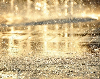 Fine Art Photography, Droplets, Golden Photography, Gold, Sparkling Photography, Sparkling Droplets Photography