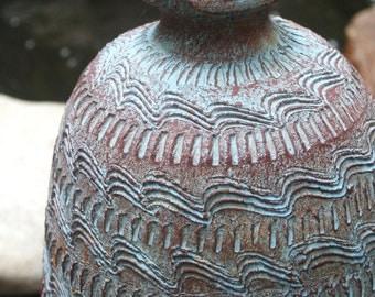 Beautiful Handmade Mexican Clay Jug / 1980's