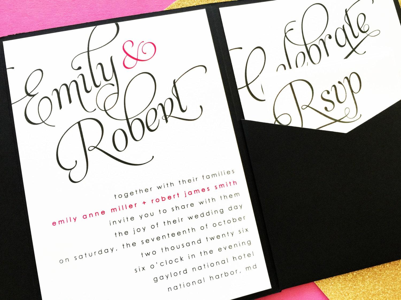 Wedding Pocketfold Invitations: Wedding Invitation Wedding Invites Pocket Invitation