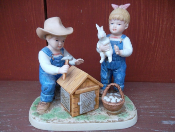 1985 homco home interiors denim days bunny 39 s Home interiors denim das
