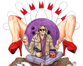 The Dude Abides - Big Lebowski Print