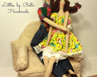 Mexican day dolls set Family doll tilda doll style custom doll couple Human Figure Doll Parents  Doll  Textile Doll Handcrafted Dolls