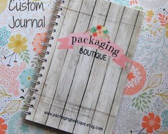 "Custom Journal - completely custom design. 1/2"" binder notebook, laminated 5 mil covers, 80 lined pages, pocket folder. 6"" x 9"""