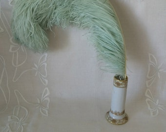 Vintage Mermaid Aqua Millinery Feather...Fluffy Millinery Plume