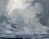 """Leaving Victoria • original oil painting 6x6"""""""