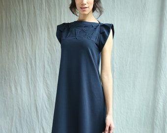 Folded Swing Dress with Flutter Sleeve- Handmade to order