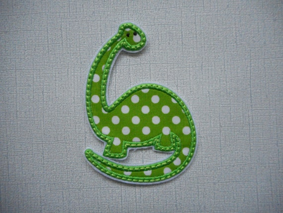 Ready to Ship DINOSAUR  Machine Embroidery fabric iron on applique        Free Shipping