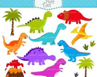 ON SALE cute Dinosaur clipart ;- Digital clipart, Dinosaur clipart, baby dinosaur, dinosaurs, INSTANT Download