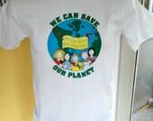 Save Earth 1980s vintage tee shirt size medium