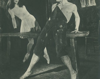 1950 Ballet, Death (Nathalie) Woos the Young Man (Babilee) Vintage Black and White Print 45 Photograph by Baron (Sterling Henry Nahum)