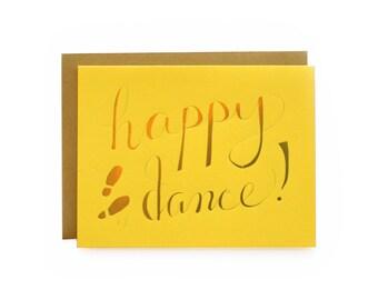 Happy Dance! - letterpress card