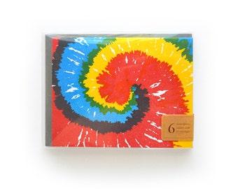 Tie Dye Letterpress Cards, set of 6