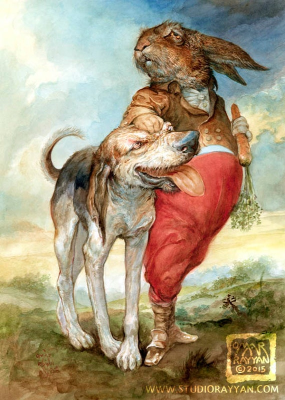 Dog of the Hare (print)