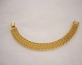 Monet Gold Tone Chain Link Bracelet