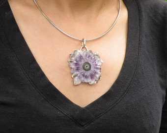 Amethyst Flower Pendant