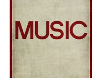 Music Turn It the #!*?  Up / Adult Content Quote / Digital Poster