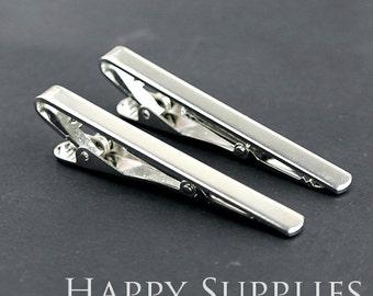 2pcs Nickel Free Silver Concise Tie Clip (XJ164-S)