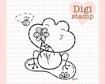 Sweet Froggie Digital Stamp For Card Making