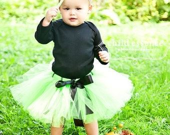 Baby Girl Costumes | Witch Costumes | Halloween Costume Baby Girl | Baby Halloween Costume | Lime Witch Tutu Costume | Mini Witch Hat