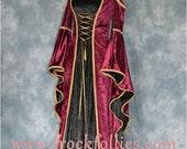 """Renaissance Gown,Elvish Wedding Dress, Handfasting Dress,Medieval Gown,Gothic Dress,Prom Dress,LARP Dress, """"Rachael"""""""