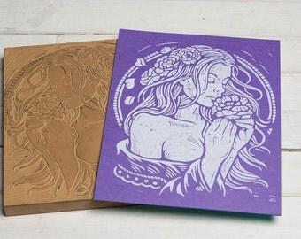 Spring Dreams -  Purple Block Print