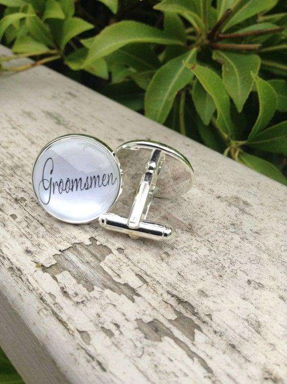 Groomsmen Cufflinks, Wedding Cufflinks, Bridal Party Gift, Groomsmen Gift, Mens Cufflinks