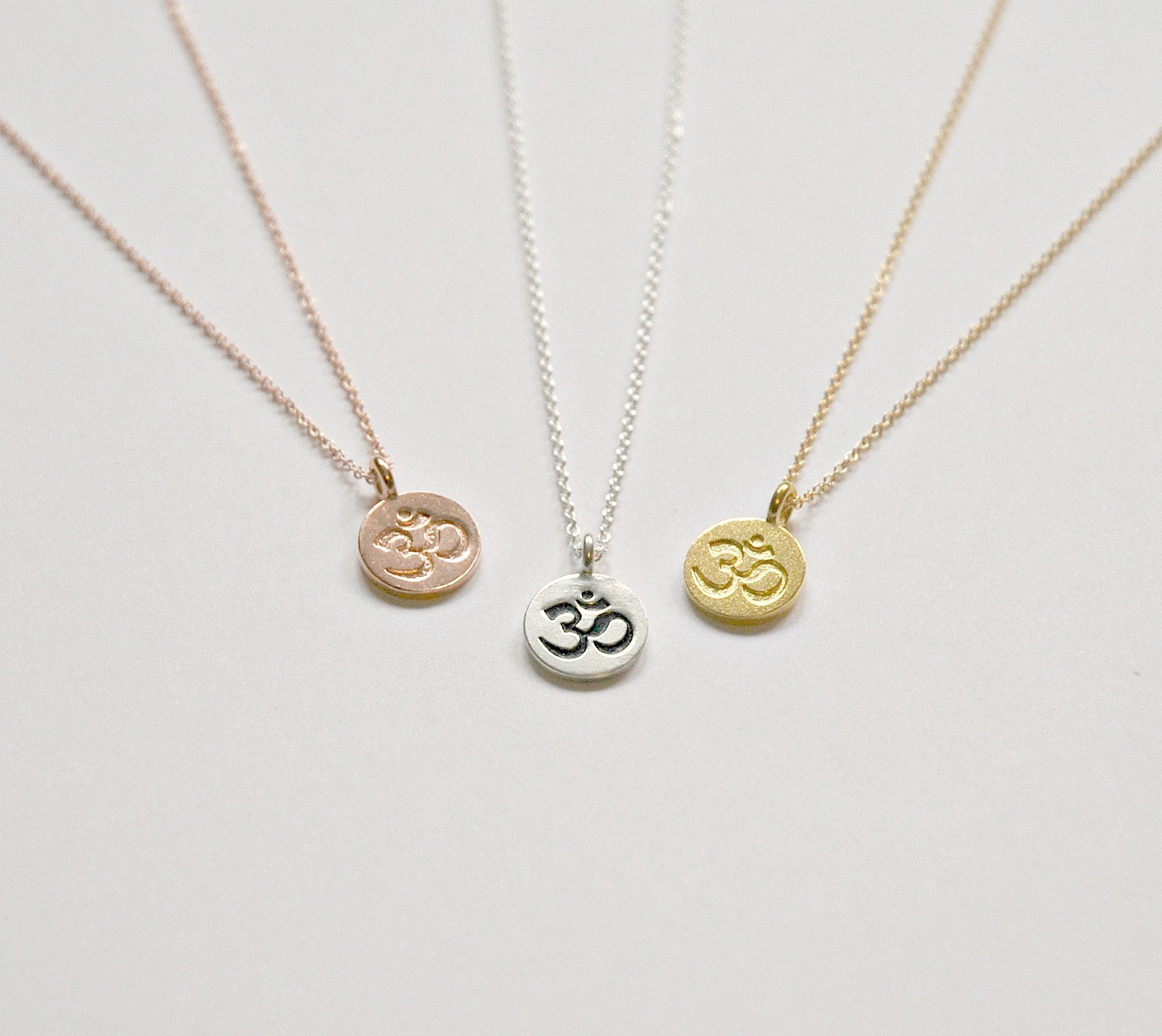 om necklace small ohm symbol gold om charm sterling