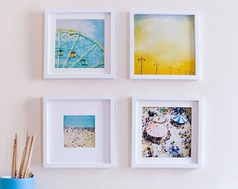 Coney Island Print Set, Nursery Art, Instant Collection, Carnival Rides, Ferris Wheel, Nursery Art Set