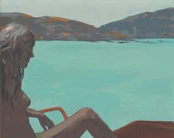 Azure Coast . original painting