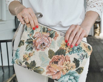 """Clutch """"June""""/ Floral summer clutch/ Summer florals/ Hand made clutch/ Inspired by Amalfi coast of Italy"""