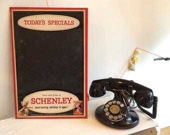 Vintage Schenley Whisky Advertising Chalkboard