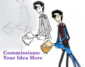 Commission Your Own Original Comic Art and Custom Greeting Card