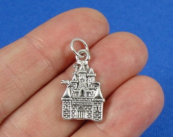 Enchanted Castle Charm - Silver Plated Castle Charm for Necklace or Bracelet