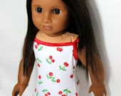 "Sweet Cherry Swimsuit for 18"" Dolls Such as American Girl"