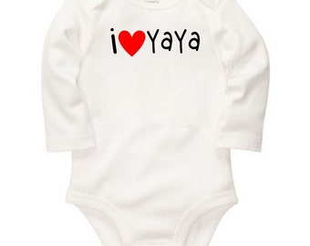 i love YaYa - long or short sleeve bodysuit - free shipping in the U.S Contiguous. - #449