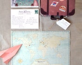 Wanderlust Invitation - SAMPLE ONLY (Price is not full order per unit price, see description)