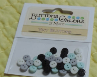 """Tiny Buttons, 2 Hole Buttons, Packaged Assortment, """"Retro"""", Style #1353 by Buttons Galore, Sewing, Crafting Embellishments, Round Buttons"""