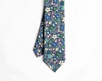 Janis - Blue Floral Men's Tie